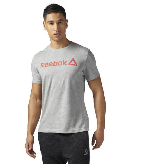 Reebok - Reebok Logo Tee Medium Grey Heather/Glow Red BR5588