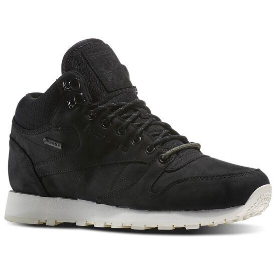 Reebok - Classic Leather Mid Goretex® Black / Paper White / Modern Olive / Shark M49142