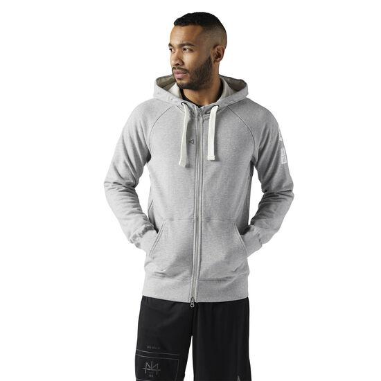 Reebok - LES MILLS Full Zip Hoodie Medium Grey Heather CE6844