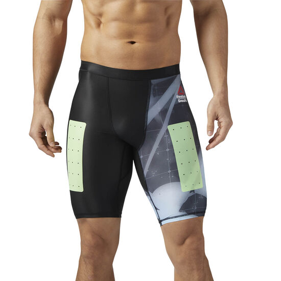 Reebok - Reebok CrossFit Compression Shorts - Heliorig Print Black CE2935