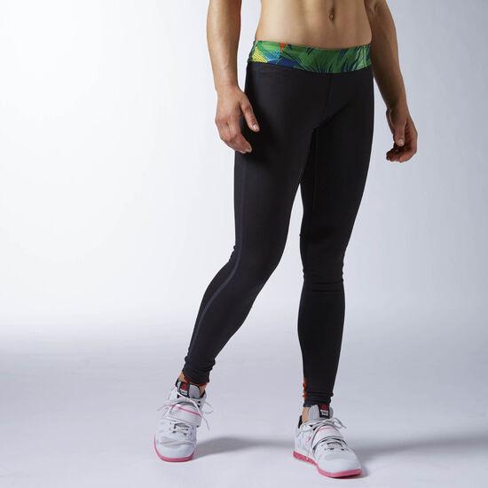 Reebok - Calza reversible de CrossFit Bright Green/Black AO1406