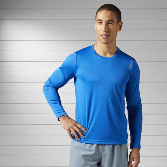 Reebok - Running Essentials Long Sleeve Tee Awesome Blue BK7259