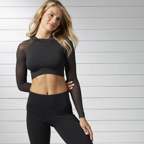 Reebok - Cardio Long Sleeve Crop Top Black BJ8983