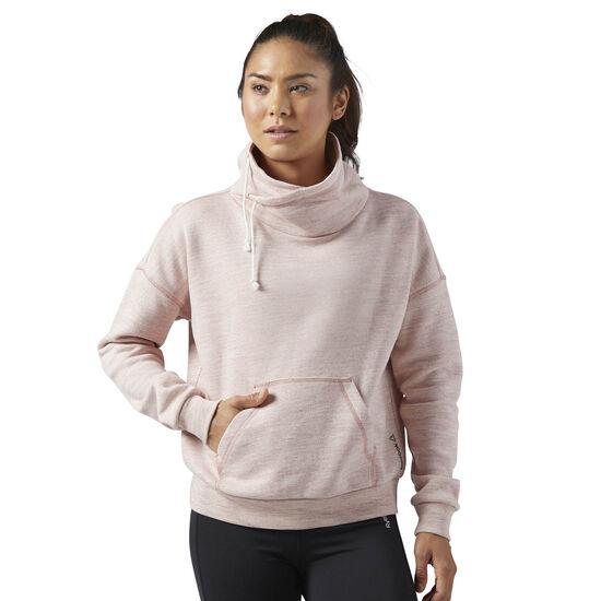 Reebok - Elements Marble Cowl Neck Sweatshirt Sandy Rose BR5269