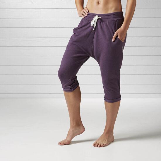 Reebok - Spodnie Yoga Slouchy Capri Meteorite B46057