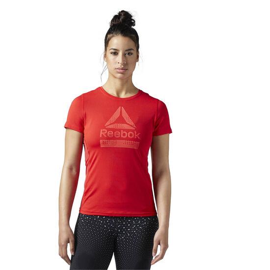Reebok - Koszulka ACTIVCHILL Graphic Primal Red BQ5001
