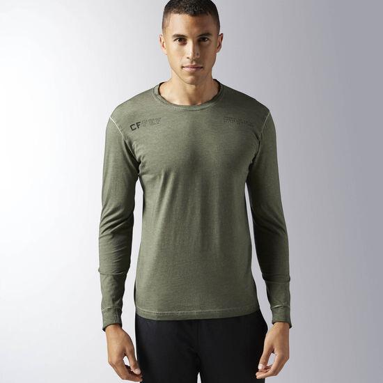 Reebok - Hommes Reebok CrossFit Performance Blend Long Sleeve Shirt Hunter Green BJ9849