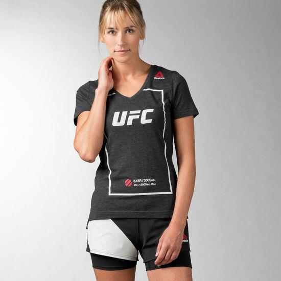 Reebok - Women's UFC Fan Triblend V-NeckTee Black AP6845