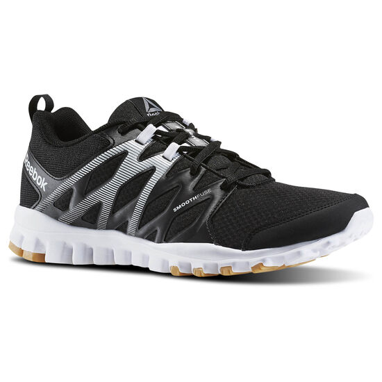 Reebok - RealFlex Train 4.0 Black/White/Reebok Rubber Gum/Pewter BD5054