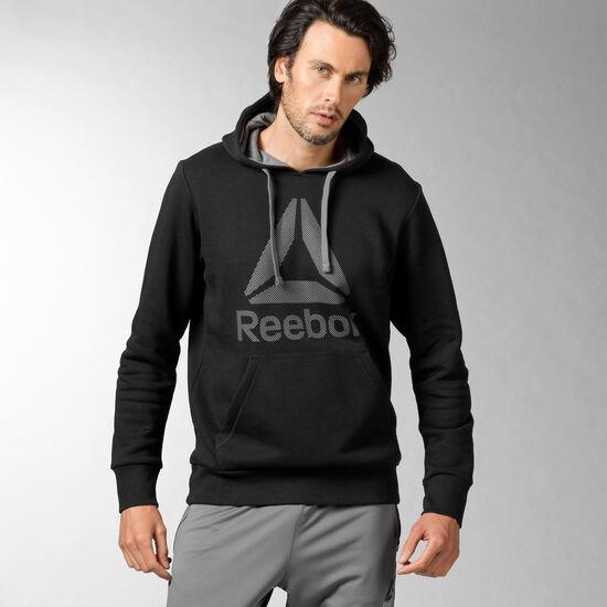 Reebok - Workout Ready Big Logo Cotton Poly Hoodie Black AX5805