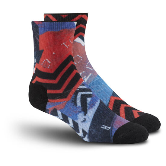 Reebok - Reebok CrossFit Stripe Crew Sock Awesome Blue/Fire Coral BP9137