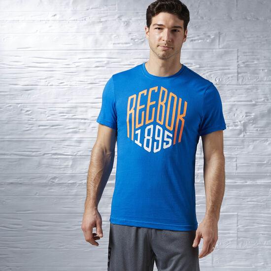 Reebok - Reebok 1895 Graphic T-Shirt Blue Sport AJ2666