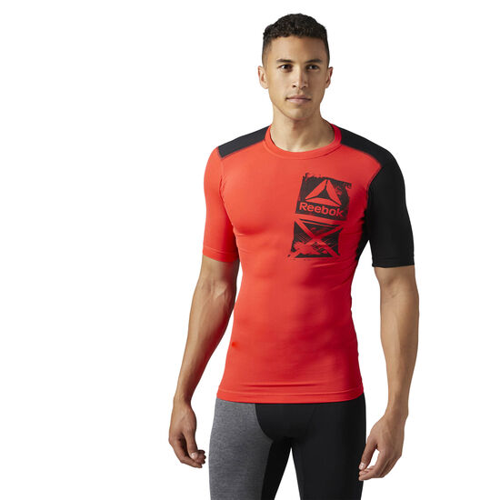 Reebok - ACTIVCHILL Graphic Compression Tee Glow Red BR9572