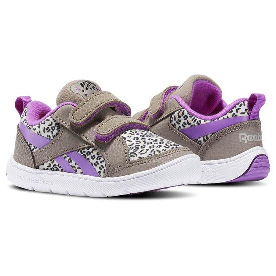 Reebok - Infants Ventureflex Critter Feet Jungle-Stone Grey/Sand Stone/Violet/Blac BS5600