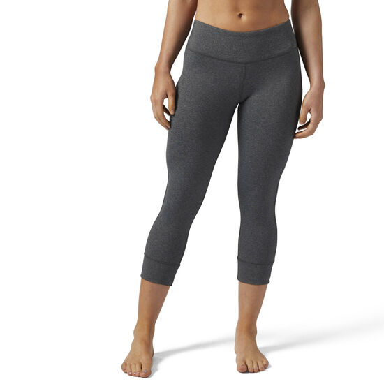 Reebok - Legginsy Lux 3/4 Dark Grey Heather BR4122