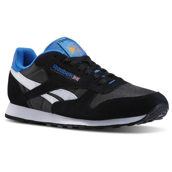 Reebok - Classic Sport Clean Black/Coal/White/Blue Sport/Bright Orange V67302