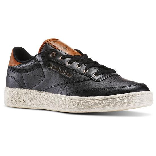 Reebok - Tênis Club C 85 Pl Black/Paperwhite/Brown Malt/Antqcppr AR1285