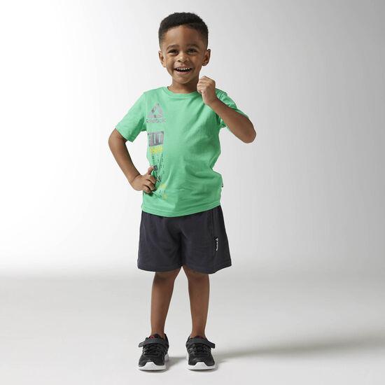 Reebok - Boys Essentials Short Sleeved Logo Set Bottle Green BK4383