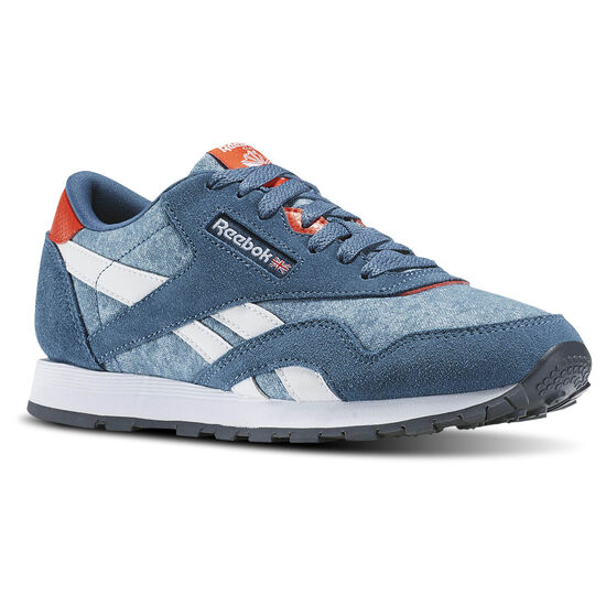 Reebok - Classic Nylon Washed Brave Blue/Carotene/White/Lead BD3856
