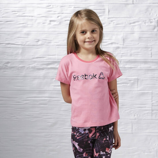 Reebok - Girl's Studio Tee Poison Pink B47897