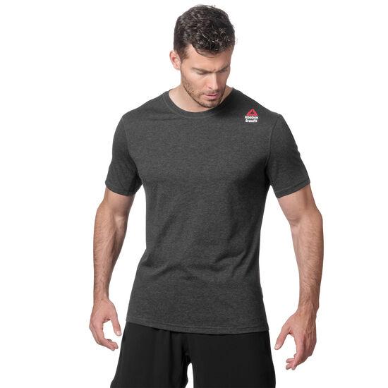 Reebok - Reebok CrossFit Performance Blend Graphic Tee Black Melange BS0490