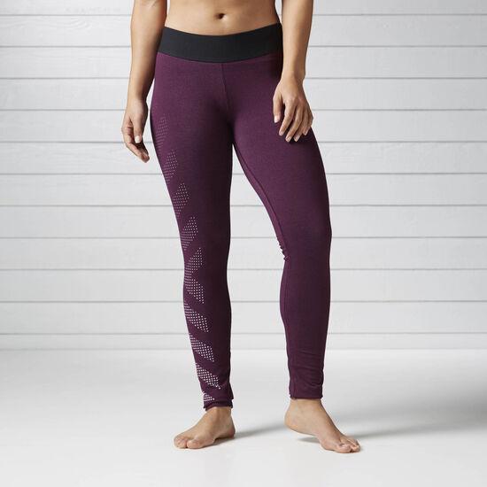 Reebok - Quik Cotton Burnout Legging Pacific Purple BS4712