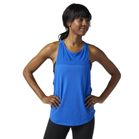 Reebok - Women's Cotton Muscle Tank Vitblu BQ9432