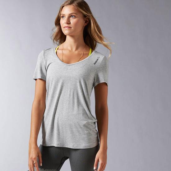 Reebok - S FAVES TEE Medium Grey Heather AY0926