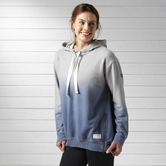 Reebok - Women's LES MILLS Yoga Hoodie Medium Grey Heather BJ9661