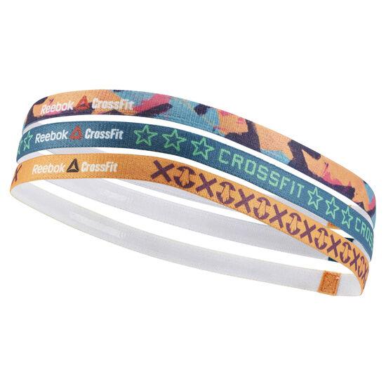 Reebok - Reebok CrossFit Thin Headband - 3 Pack Hunter Green/Emerald Tide/Yellow Spark BP7336