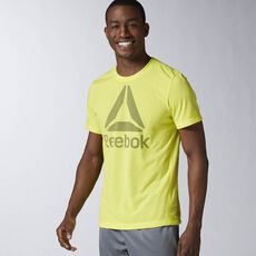 Reebok - Workout Ready Big Logo Supremium Tee Hero Yellow AY3484