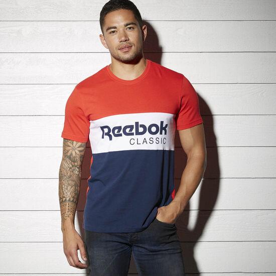 Reebok - Спортивная футболка Reebok Archive Stripe PRIMAL RED S17-R BK3837