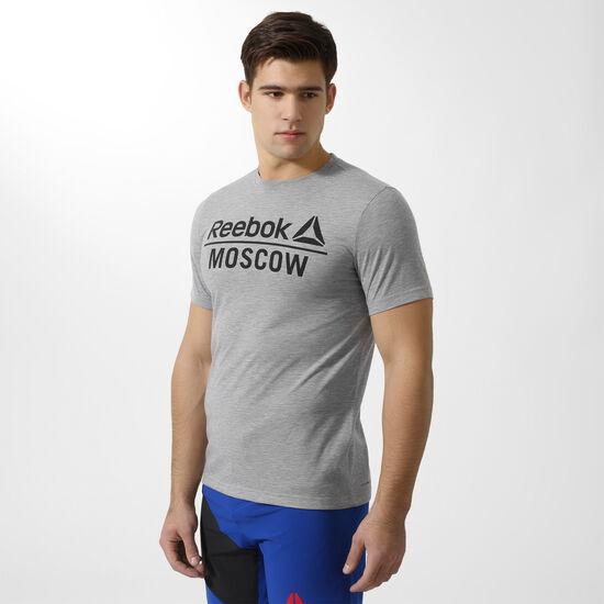 Reebok - Футболка Moscow Speedwick MGREYH BR3579