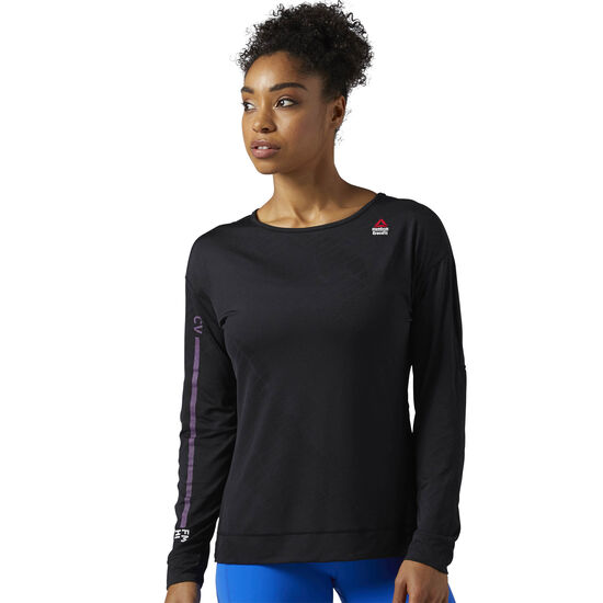 Reebok - Reebok CrossFit Jacquard Long Sleeve Shirt Black BQ5225