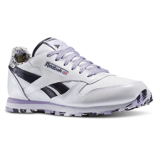 Reebok - Classic Leather Girl Squad Pack White/Purple Delirium/Lavender AR2715