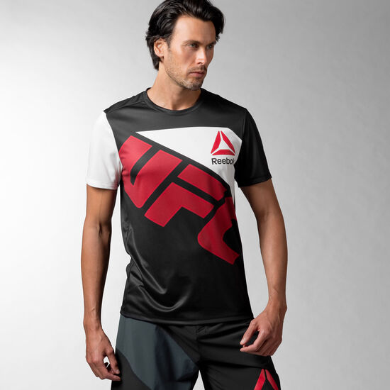 Reebok - UFC Fighter Jersey Black / Excellent Red AO0735