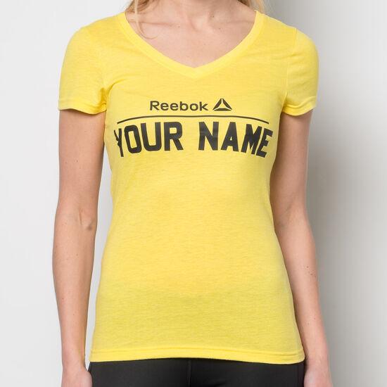 Reebok - Reebok V-Neck T-Shirt Yellow Spark AJ8019