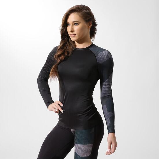 Reebok - Спортивная футболка с длинным рукавом Reebok CrossFit Paddle BLACK BK1031
