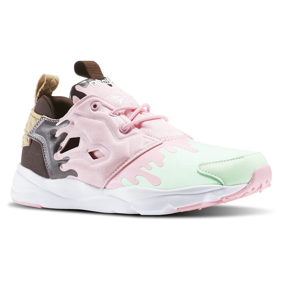 Reebok - Tenis Furylite IC MINT GREEN/LIGHT PINK/WHITE/DARK BROWN-ICE BD3166