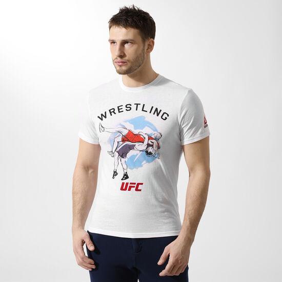 Reebok - ФутболкаReebok UFC Wrestling White CI7739