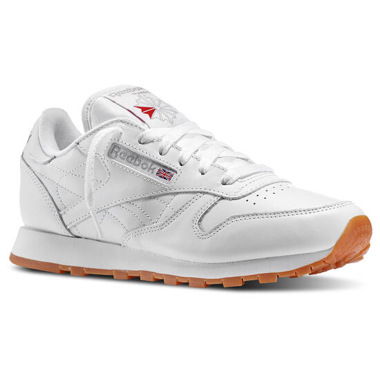 Reebok - Femmes Classic Leather Us-white/Gum 49801