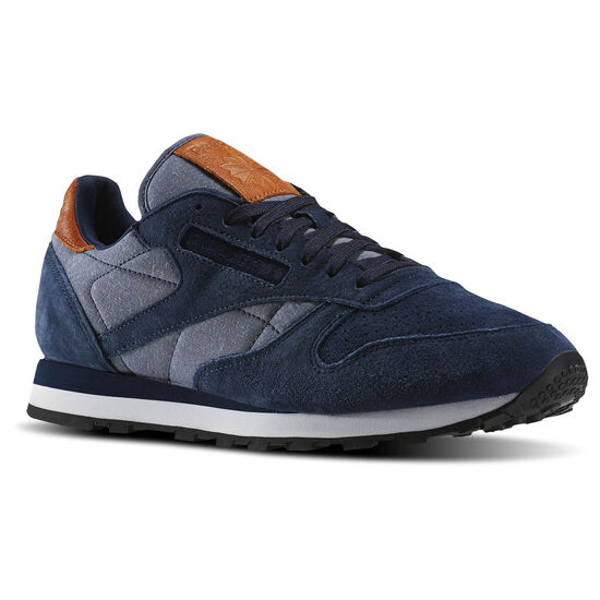 Reebok - Tênis Classic Leather Ch Collegiate Navy/White-Gum BD1663
