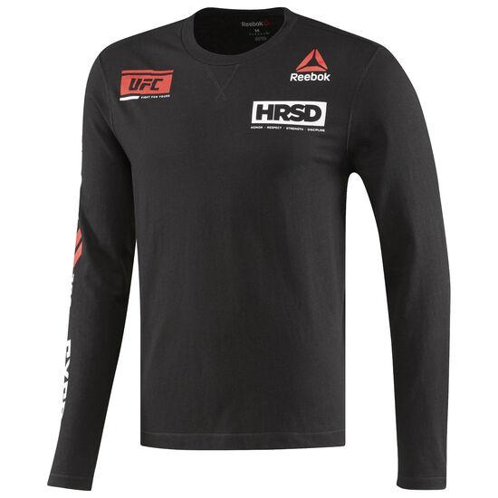 Reebok - UFC Ultimate Fan Long Sleeved Shirt Black AZ3444