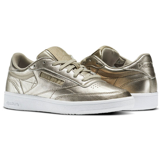 Reebok - Club C 85 Melted Metals Pearl Met-Grey Gold/White BS7901