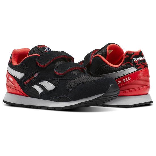 Reebok - GL 3000 2V Graphic-Black/Glow Red/Steel/White BS7224