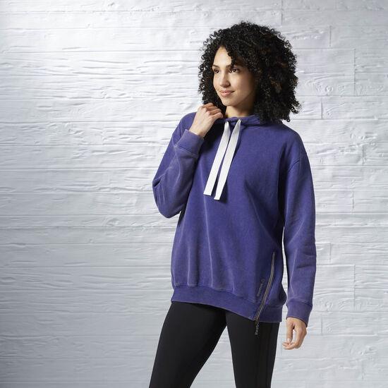 Reebok - LES MILLS Oversized Hoodie Pigment Purple AZ0247