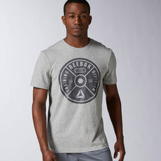 Reebok - Bumper Plate Graphic Tee Medium Grey Heather AX8212
