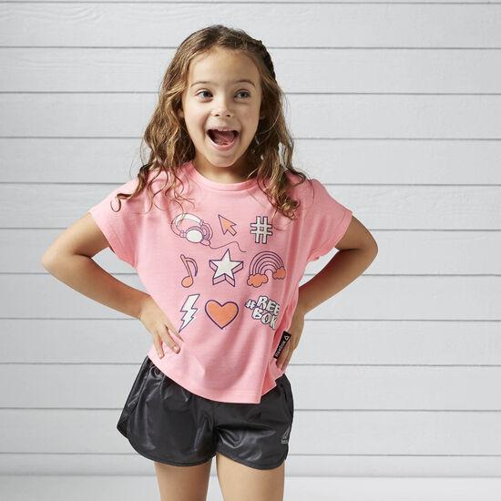 Reebok - Camiseta K PEPPY PINK S13-R BQ3273
