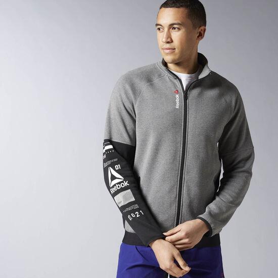 Reebok - Reebok ONE Series Quik Cotton Track Jacket Dgh Marl Mel-R S93609