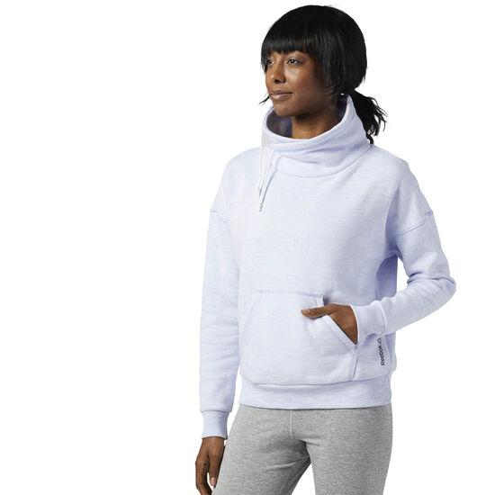 Reebok - Femmes Elements Marble Cowl Neck Sweatshirt Lilac Glow BR5257